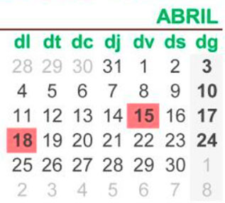 Calendari laboral 2022