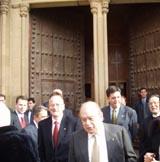 Jordi Pujol, Jordi Vilajoana, l'alcalde i altres autoritats en començar l'acte institucional