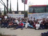 Els 92 voluntaris, en arribar a Sant Cugat