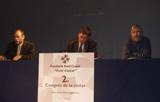 Joan Gaya, Lluís Recoder i Jordi Casas, a la inauguració del Congrés