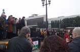 L'acte d'acomiadament es va fer a la plaça Espanya de Barcelona