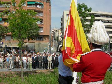 La plaça de la Vila acull per primera vegada un acte de la Diada