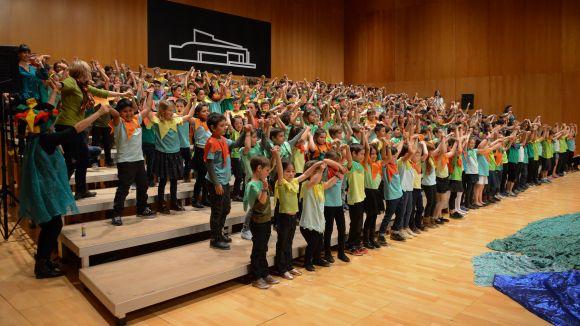 Els infants de segon de primària han protagonitzat el concert / Foto: Localpres