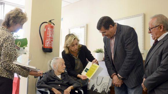 La santcugatenca Montserrat Grume celebra 100 anys