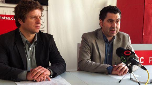 D'esquerra a dreta, els regidors del PSC, Pere Soler i Ferran Villaseñor