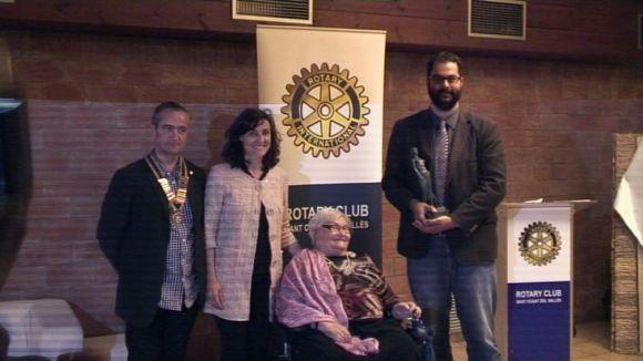 El Rotary Club premia la implicació local de Pepa Llunell i Cugat.cat