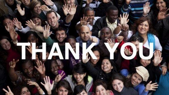 La plataforma ha penjat una fotografia d'agraïment dirigida als donants / Font: Worldcoo.com