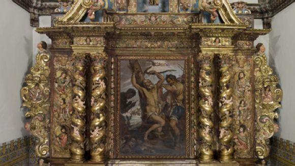 El Monestir torna a lluir el retaule de Sant Bartomeu