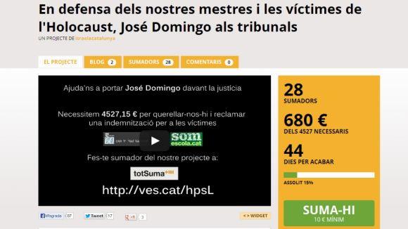 Campanya contra José Domingo per comparar immersió lingüística i nazisme