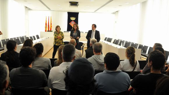 Primer dia de feina dels contractats pel segon Pla d'Ocupació municipal