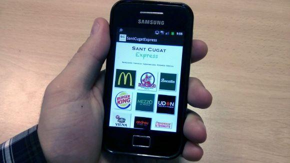 L'aplicació per a mòbils 'Sant Cugat Express' apropa els comerços a les llars