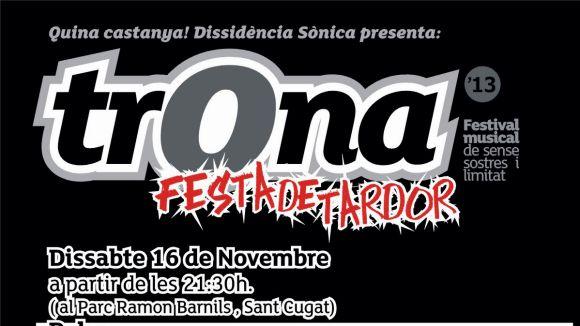 El Festival Trona portarà la música local al parc de Ramon Barnils