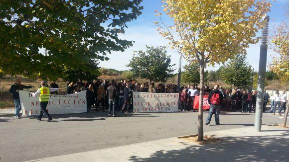 Els treballadors de Ricoh es concentren en contra dels acomiadaments