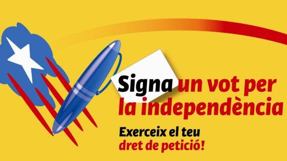 L'ANC instal·larà 12 punts per a la campanya 'Signa un vot per la independència'