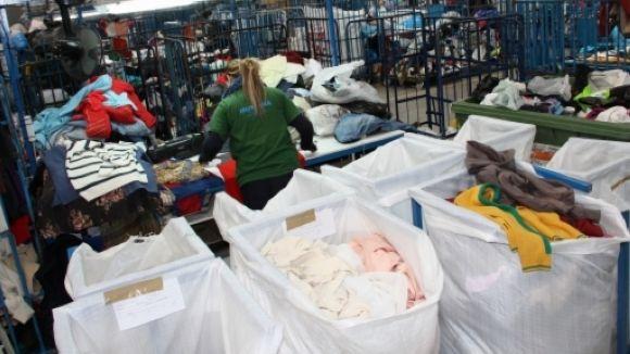 Humana recull 138 tones als contenidors locals