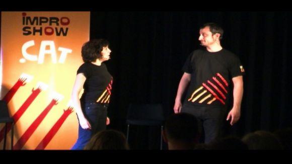 Les rialles al Casal de TorreBlanca, teló de fons de 'l'improshow' del Dia Mundial del Teatre
