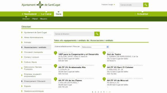 La uaSC reclama actualitzar el directori web d'entitats i associacions