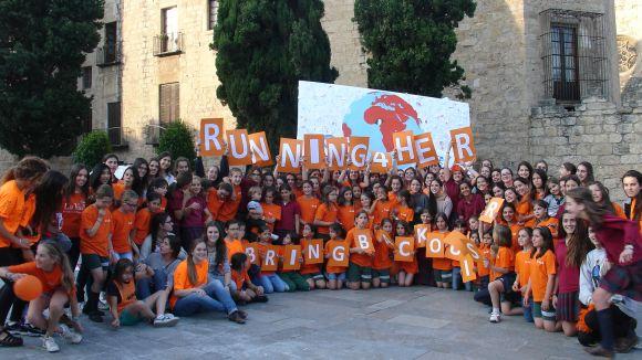 L'escola La Vall tanca el projecte solidari 'Running4her'