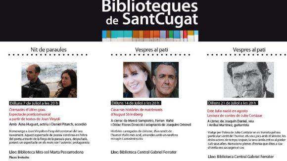 Vinyoli, Strindberg i Cortázar, reclams a les biblioteques aquest mes