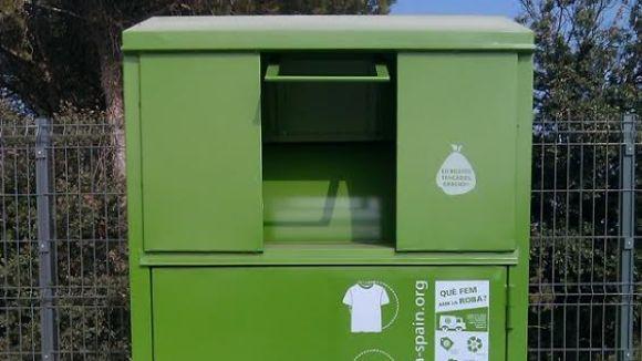 Humana té diversos contenidors repartits pels carrers de la ciutat / Foto: Humana