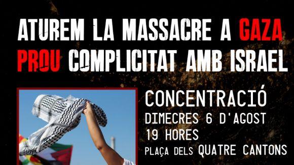 Convocada una concentració de solidaritat amb el poble palestí