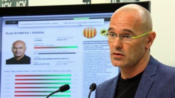Raül Romeva, a les travesses per substituir Forcadell al capdavant de l'ANC