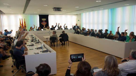 Suport ampli del ple de Sant Cugat a la convocatòria de la consulta del 9N