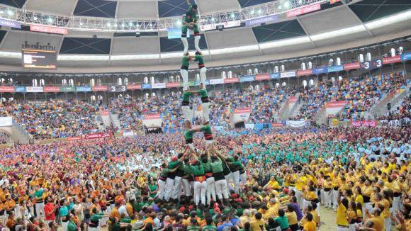 Els Gausacs, en una edició anterior del concurs / Foto: Castellers de Sant Cugat