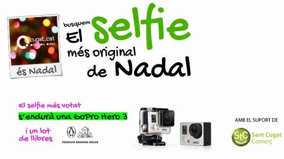 Participa al concurs de 'selfies' de Nadal de Cugat.cat i guanya una càmera GoPro