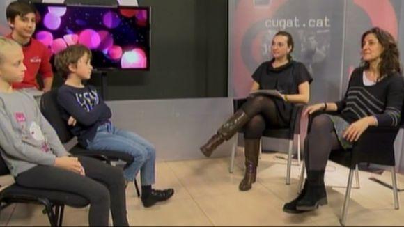 Infants de la ciutat entrevisten Mercè Conesa a Cugat.cat