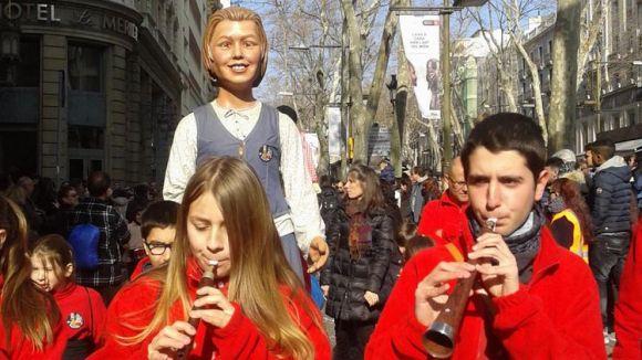 Els Geganters i el Grup Mediterrània se sumen a la festa de Santa Eulàlia