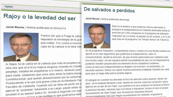 Ciutadans va publicar dues columnes d'opinió d'autoria confusa a Cugat.cat