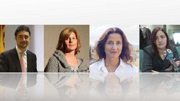 Damià Calvet, Carmela Fortuny, Mercè Conesa i Mayte Pérez