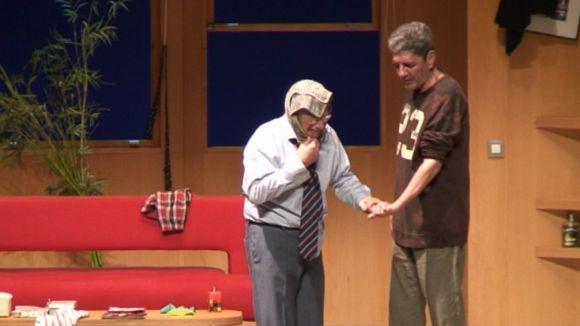 Joan Pera i Antonio Dechent a la funció del Teatre-Auditori