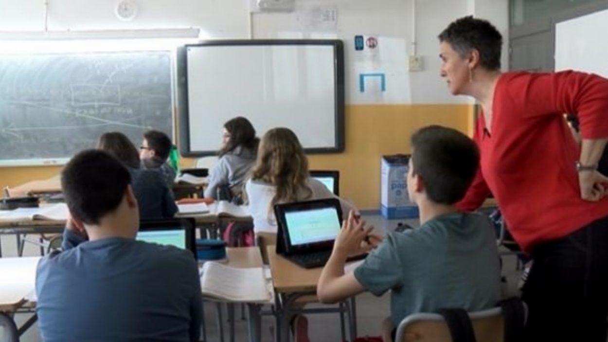 L'institut Pla i Farreras és pioner en la utilització de dispositius amb connexió a internet per a les classes / Foto: Cugat Mèdia