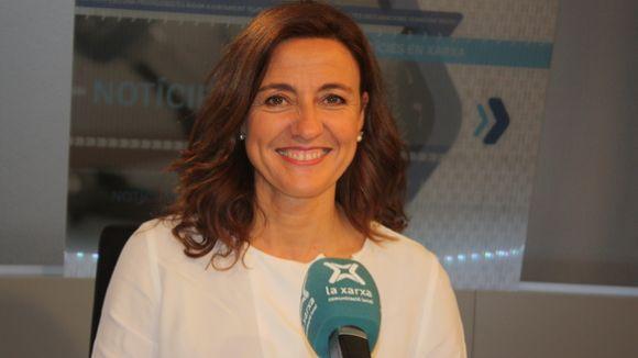 Mercè Conesa, als estudis de La Xarxa / Foto: La Xarxa