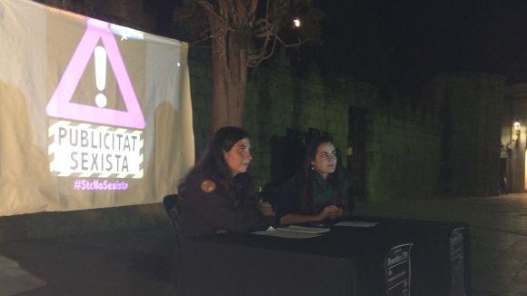 La roda de premsa ha tingut lloc a la plaça d'Octavià