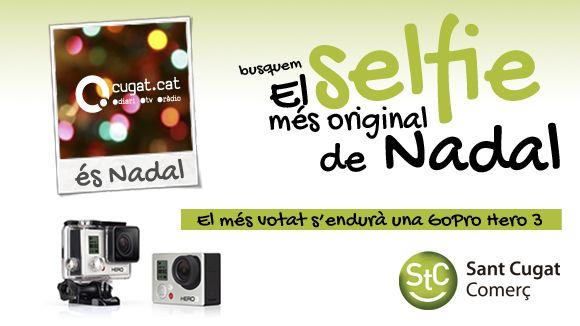 Cugat.cat sorteja una càmera GoPro Hero3 en el concurs de 'selfies' de Nadal