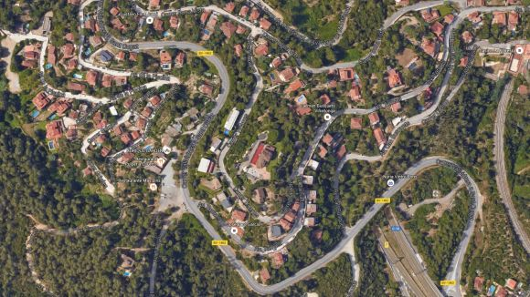 C's lamenta la falta d'il·luminació en un tram de la Floresta de la carretera de Vallvidrera