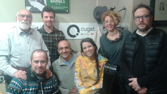 Eduard Jener, Izan Rubio, Gisela Figueras i Carles Miró, drets. Jordi Lara, Joan Berlanga i Elisabet Franch, asseguts