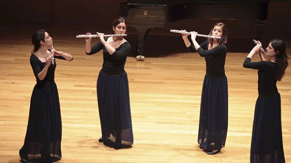 Alejandra Villalobos, segona per l'esquerra, amb el Quartet Neuma / Foto: Quartetneuma.com