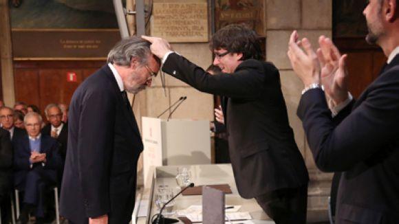 El galerista i editor d'art Carles Taché, guardonat amb la Creu de Sant Jordi