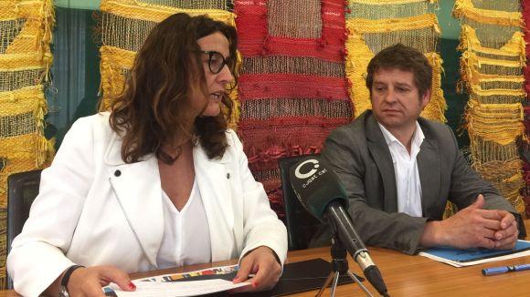Mercè Conesa i Pere Soler, a la presentació del Pla Estratègic d'Ocupació