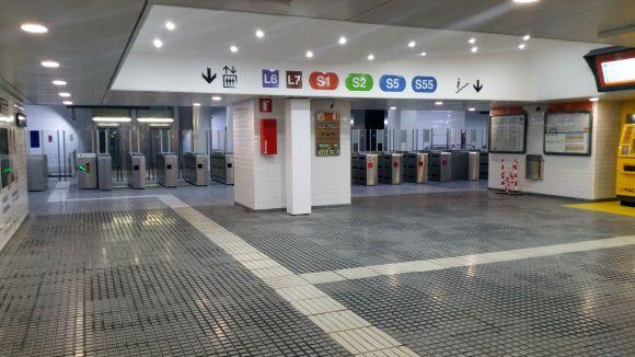 Completades les obres de millora de l'estació de plaça de Catalunya de FGC