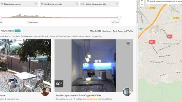 Sant Cugat ofereix més de cent lloguers a la plataforma Airbnb