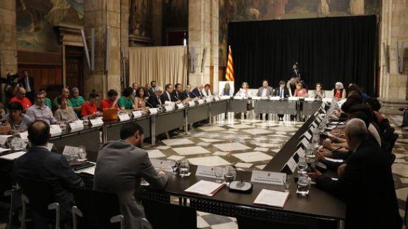La cimera ha tingut lloc al Palau de la Generalitat / Foto: ACN