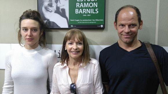 Ariane Patout, Marcenia Baqués i Renè Müller, al magazín