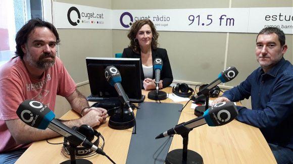 D'esquerra a dreta: Oriol Castellví, Susana García i Boris Mir