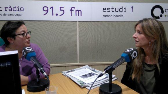 D'esquerra a dreta, Carme Reverte i Esther Salat