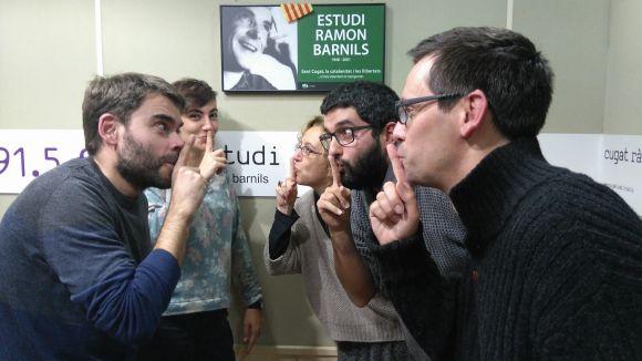 D'esquerra a dreta: David Vila, Àfrica Albelda, Cristina Company, Un Tal Pere i Daniel Ruiz-Trillo